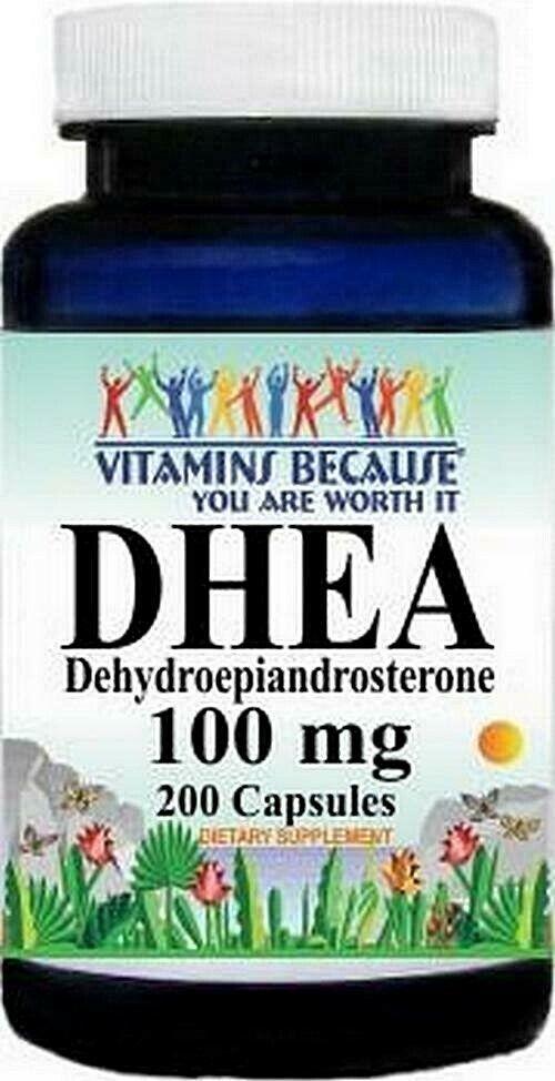 DHEA 100 Capsules w/100mg Dehydroepiandrosterone-