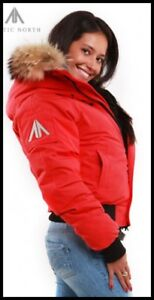 Unisex Unisexe ARCTIC NORTH red winter hiver coat manteau rouge