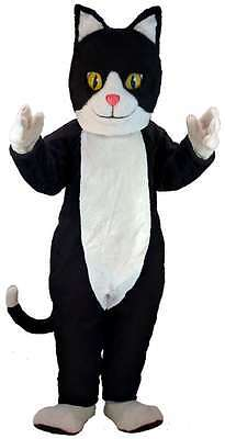 Black & White Cat Professional Quality Lightweight Mascot Costume Adult Size