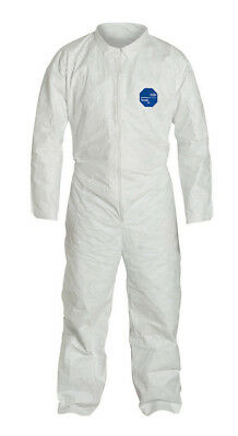 Dupont Ty120s Disposable Tyvek White Coverall With Open Wrists Ankles 1 Suit