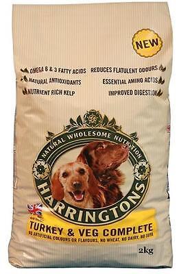 Harringtons Turkey & Veg 2kg Complete Dog Food  No Wheat No Dairy No Soya