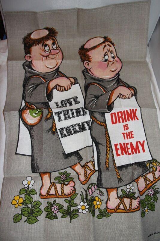 Ulster Irish Linen Tea Towel Oh Brother!