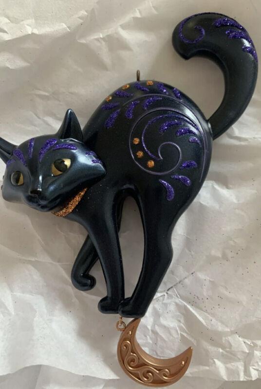 "Hallmark Keepsake 2019 ""BEWITCHING BLACK CAT"" Halloween Keepsake New"