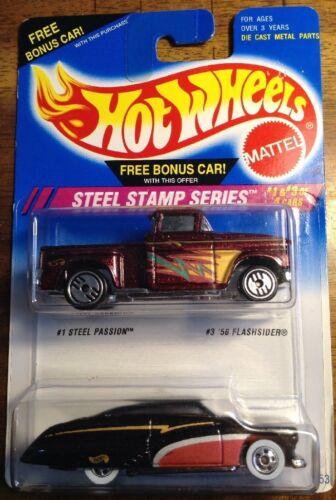 1995 Hot Wheels Steel Stamp Series Steel Passion /'56 Flashsider Brown//Black