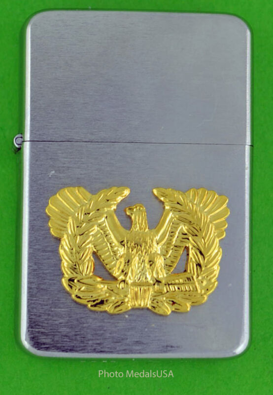 WARRANT OFFICER ARMT WIND PROOF PREMIUM LIGHTER -  GIFT BOX  ARMY SBC135