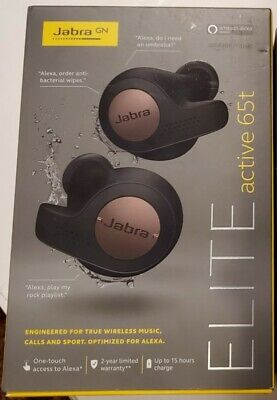 Jabra Elite Active 65t True Wireless Earbuds - Copper Black Jabra In Ear Microphone