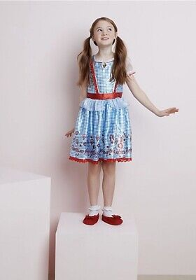 The Wizard Of Oz Dorothy Girls Dressing Up Costume Age 5-6 Yrs BNWT Fancy - Wizard Of Oz Dorothy Age