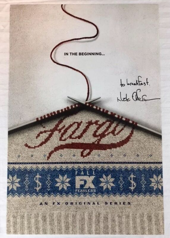 NICK OFFERMAN HAND SIGNED 12x18 PHOTO POSTER ACTOR AUTOGRAPHED FARGO RARE COA
