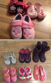 9 pair of shoes UK infant size 8and9 Excellent condition Pic no 4 is brand new