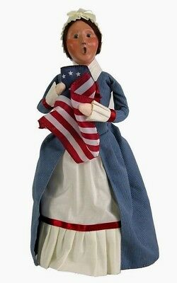 Byer's Choice Carolers Betsy Ross Williamsburg Doll (2002) Made in U.S.A.