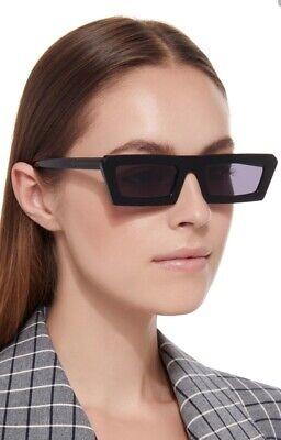Karen Walker Shipwreck Sunglasses | Square, Narrow, Acetate, Black $389 RRP