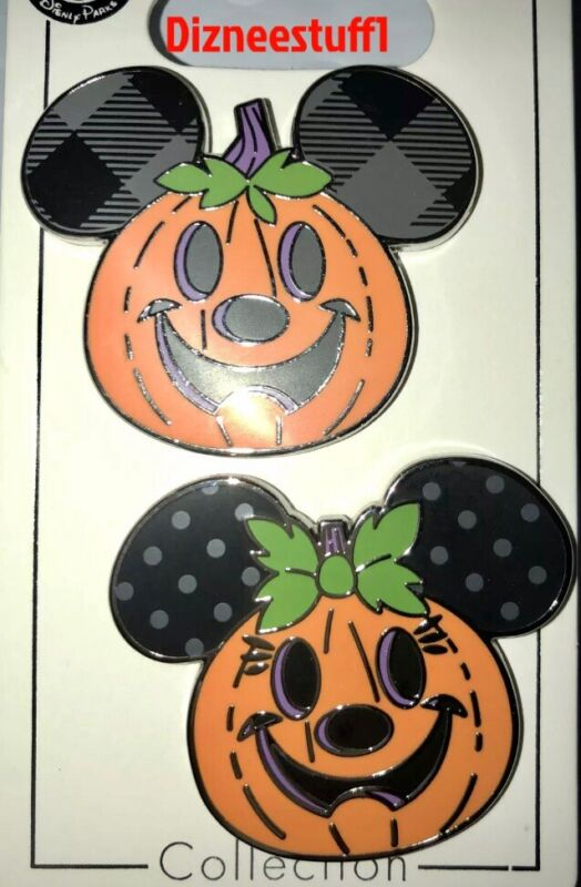2021 Disney Parks Halloween Mickey And Minnie Mouse Pumpkins OE Pin NEW