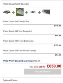6 Berth Outwell family tent bundle