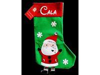 Personalised Santa Elf Christmas Sack Stocking Children Kids Adult Gift FREE HAT
