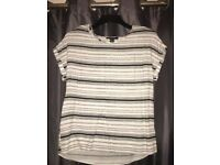 Black & White stripped blouse - Size 6 - New without tags!