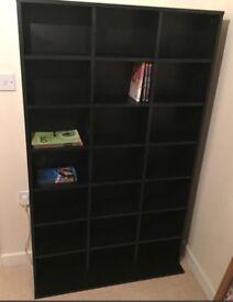 Black wood book case