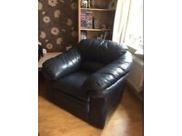 FREE navy leather armchair