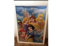 New Disney princesses 3D large photo frame for kids bedroom decorations