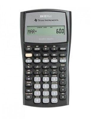 Texas Instruments Ba Ii Plus Financial Calculator, Statis...