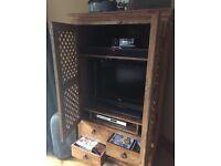 TV television unit hifi storage unit in style of John Lewis maharani