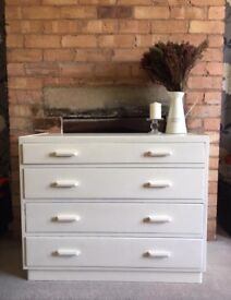 Gorgeous up-cycled chest of 4 drawers SALE £110