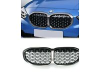 Genuine BMW 1 series diamond effect Front Grill in Cerium Grey (Will fit std 1 series 2019>)