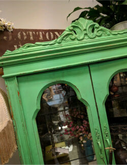 Antique French Display Cabinet Provincial Vintage Luxe
