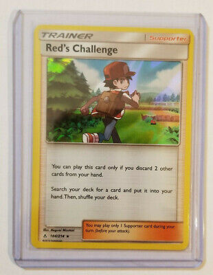 Pokemon RED'S CHALLENGE Trainer 184/214 Holo Rare SM - Unbroken Bonds