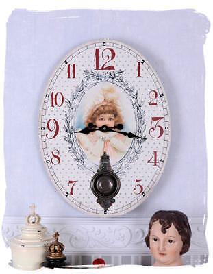 SHABBY CHIC KITCHEN CLOCK WALL CLOCK ART NOUVEAU CLOCK NOSTALGIA ANTIQUE