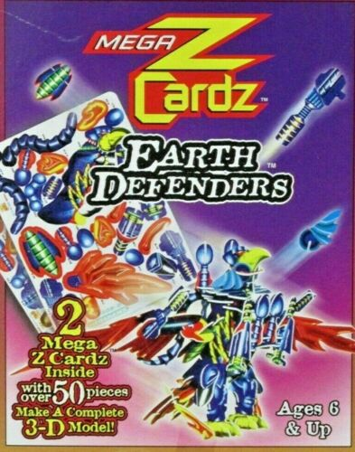 "Megahawk Mega Z Cardz 3-D Model Kit Earth Defenders 50 pieces 6"" x 4"""
