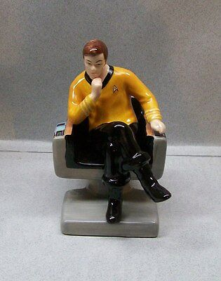 STAR TREK CAPTAIN KIRK AT HELM SALT & PEPPER SHAKERS WG