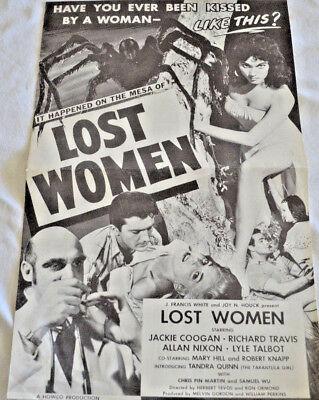 On The Mesa Of Lost Women (1953) Press Kit - Howco International - Jackie Coogan