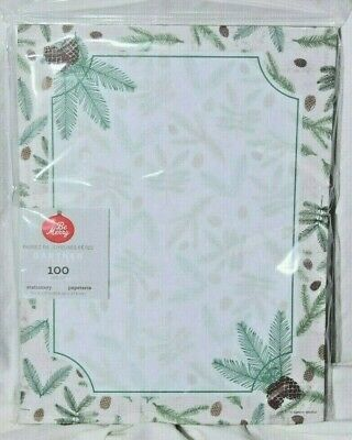 Gartner Studios Be Merry Stationery Letterhead Paper PineCone 100 Ct 8.5X11 100 Ct Stationery