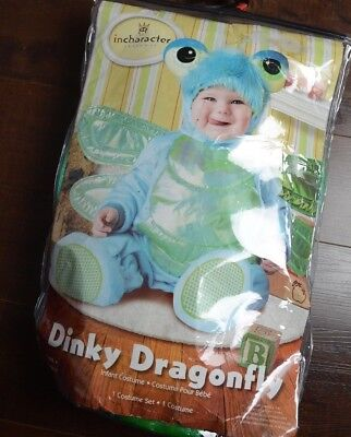 New CUTE Dinky Dragonfly Halloween Costume Infants Baby 0-6 Months Bugs