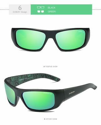 Green Polarized Sunglasses (New Green DUBERY Polarized Wrap Around Mens Sunglasses Sport Driving Riding )