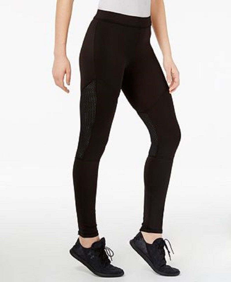 44ffc983701c17 Hue Leggings Sz XL black Moto Mesh Active Jersey Workout Legging U17536