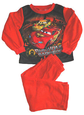Disney Cars Fleece langarm Pyjama NEU warmer Schlafanzug kuschlig weich ()