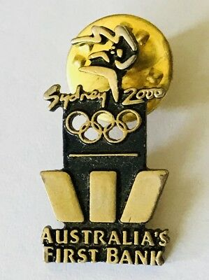 Westpac Australias First Bank Sydney 2000 Olympic Games Pin Badge Partner  E10