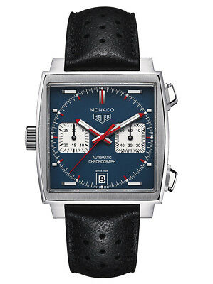 CAW211P.FC6356 TAG Heuer Mens Monaco Automatic Stainless Steel and Leather -