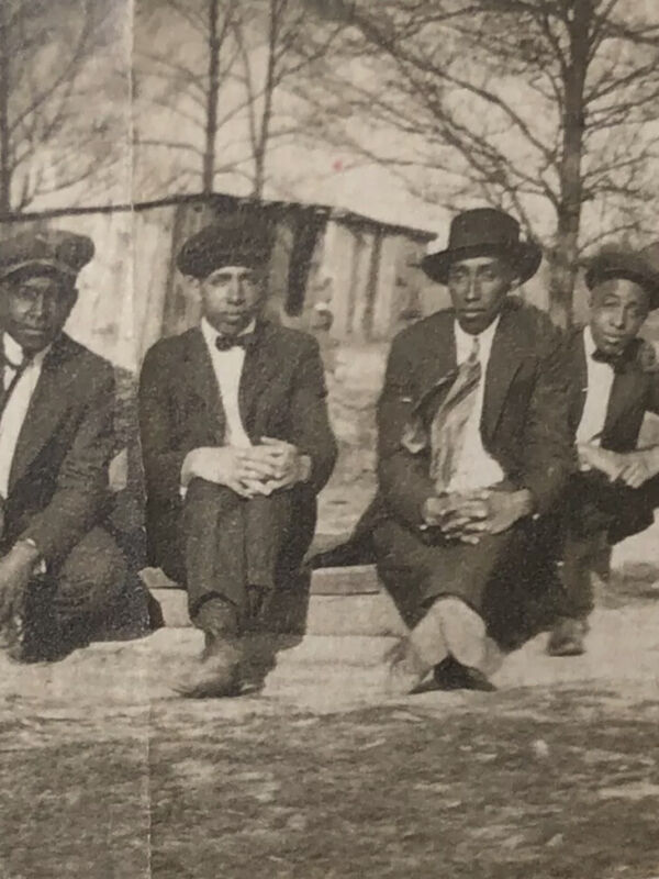 1910's~ 3 African American Business Men With Suits Posing- Real Photo