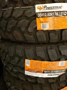 35X12.50R17 BRAND NEW POWERTRAC MUD TERRAIN TIRES 35 12 50 17 LT 35X12 50R17 M/T 35 INCH 10 PLY 35 12 5R17 35 1250 17