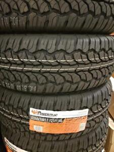 LT265/70R17 BRAND NEW SET ALL SEASON TERRAIN TIRES 10 PLY POWERTRAC 265/70/R17 WHEELS 265 70 17 LT