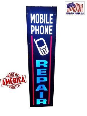 MOBILE PHONE REPAIR Signs. Led light box sign, 12''x48