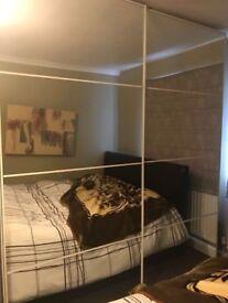 Ikea Pax White Wardrobe With Sliding Mirror Doors
