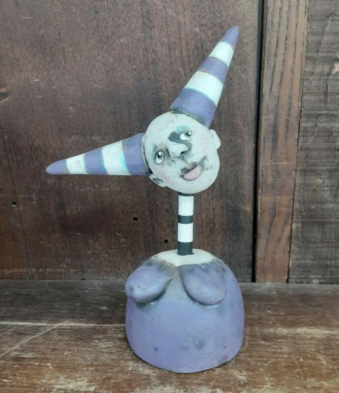 Nancy Kubale Whimsical Ceramic Sculpture Contemporary Mixed Media Art Pottery