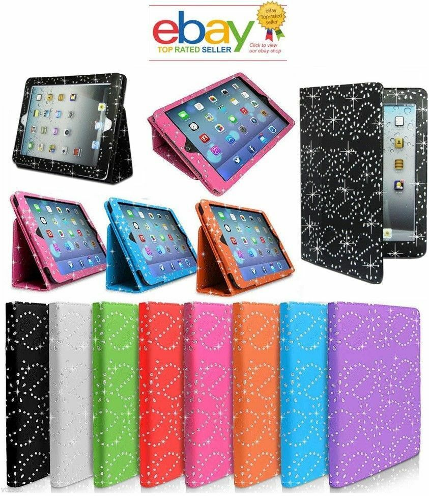 Luxury Magnetic Smart Design Flip Cover Stand Wallet Leather Case For iPad 2 3 4