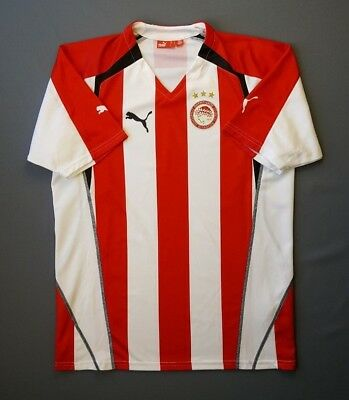 4.9/5 OLYMPIACOS 2005-2006 SOCCER FOOTBALL HOME JERSEY SHIRT PUMA SIZE L image