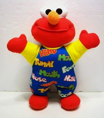 SESAME STREET TALKING ELMO 1996 TYCO DEVELOPMENTAL EDUCATIONAL BABY TOY PLUSH