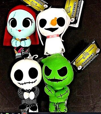 Nightmare Before Christmas Funko Super Cute Plushies Complete Set Jack Sally