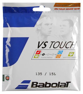 - Babolat VS Touch Natural Gut 15L String 40ft, (Express Shipping)